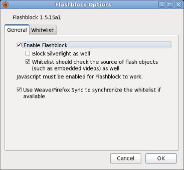 Flashblock firefox